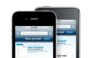 Application monCV.com pour iPhone
