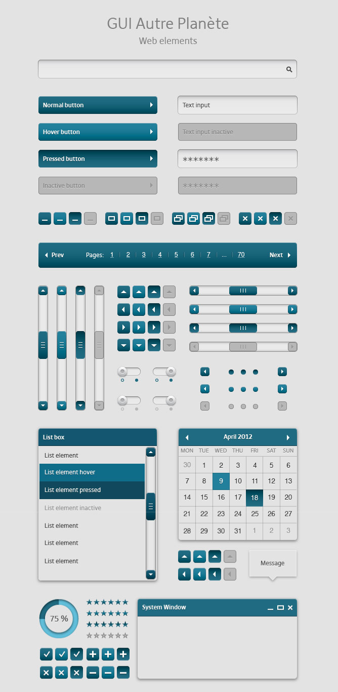 graphic user interface elements